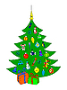 Vector clipart: The Christmas tree