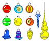 Vector clipart: Christmas toys