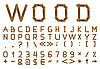 Vector clipart: wooden alphabet