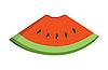 Vector clipart: Watermelon piece