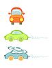Векторный клипарт: Множество маленьких автомобилей.