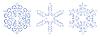 Векторный клипарт: Русская украшения. Новогодняя снежинка