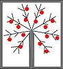Векторный клипарт: Украшенных новогодних деревьев