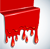 Vector clipart: abstract blood drops