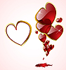 Vector clipart: hearts with blood
