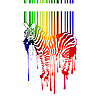 Vector clipart: zebra silhouette with barcode