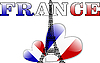 Vector clipart: eiffel tower and french flag in form of heart