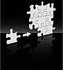 Puzzle on black | Stock Vector Graphics