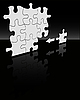 Vector clipart: puzzle on black