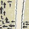 гранж-фон со стрелками