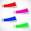 Vector clipart: colored sticker set