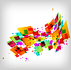 Abstract square colorful background | Stock Vector Graphics