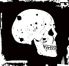 Vector clipart: grunge skull