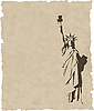 Vektor Cliparts: Statue of Liberty