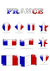 Vector clipart: france flags button