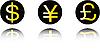 Vector clipart: money symbol set