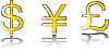 Vektor Cliparts: Geld Zeichensatz