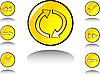 Vektor Cliparts: Web-Zeichensatz
