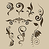 Vector clipart: Set of patterns for design