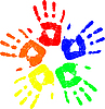 Vector clipart: color hands