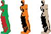 Векторный клипарт: Венера цвета силуэт набор