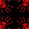 blood hand background