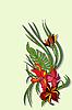 Векторный клипарт: Красота цветов