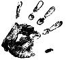 Векторный клипарт: отпечаток руки