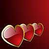 Векторный клипарт: сердечки на день Св. Валентина