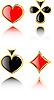 Conjunto de juegos de la tarjeta de juego | Ilustración vectorial
