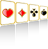 Vector clipart: set of play card suits