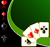 Векторный клипарт: играть в карты фон