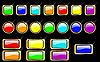 Векторный клипарт: радуга глянцевые кнопки набор