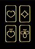 Векторный клипарт: набор мастей игральных карт