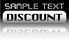 Vector clipart: metal discount banner