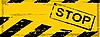Векторный клипарт: гранж опасность баннер