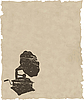 Векторный клипарт: старый патефон на старой бумаге