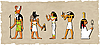 Vector clipart: set of egyptian god