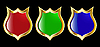 set red blue and green shield