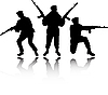 Soldiers silhouettes | Stock Vector Graphics