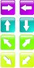 Vector clipart: color web arrow icon set