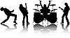 Vector clipart: musicans silhouettes set