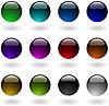 Vector clipart: color circle button