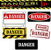 Vector clipart: grunge danger banner set
