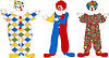 Vector clipart: The clown set with gift