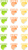 Vector clipart: stickers with text set