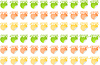 Vector clipart: stickers with text percent