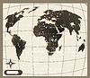 Vector clipart: old world map