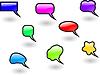 color shiny speech bubbles set