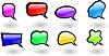 Vector clipart: color shiny speech bubbles set